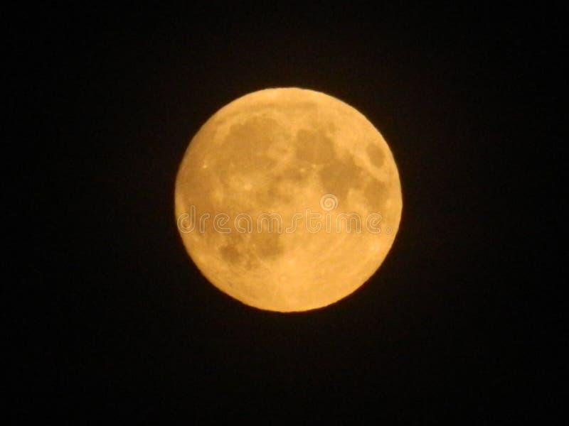L'espace jaune de cercle de lune photographie stock