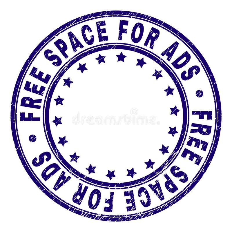 L'ESPACE LIBRE texturisé rayé POUR le joint de timbre de rond d'ADS illustration libre de droits