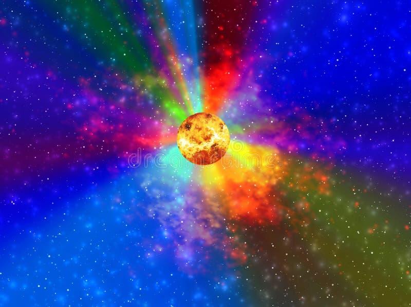 L'espace. Lumière solaire illustration libre de droits