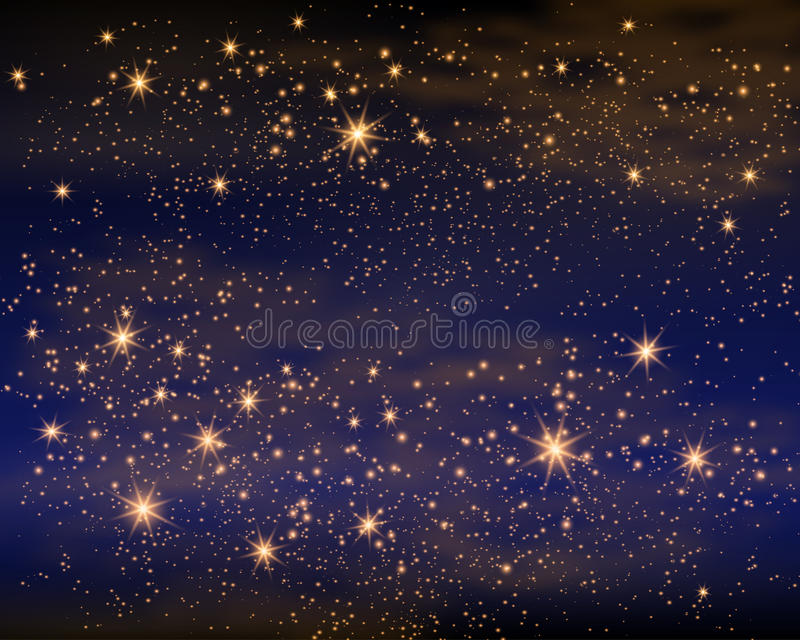 L'espace magique Infini féerique de la poussière Fond abstrait d'univers Gog bleu et étoiles brillantes Illustration de vecteur illustration libre de droits