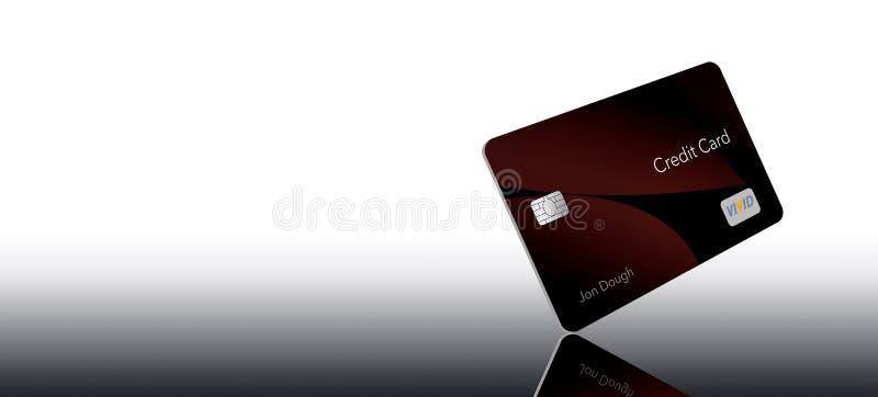 L'ESPACE POUR LA CARTE DE CRÉDIT des TEXTES ici est une carte de crédit générique avec les logos et le type de non-infraction gén illustration stock