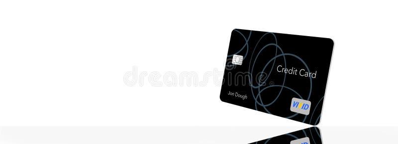 L'ESPACE POUR LA CARTE DE CRÉDIT des TEXTES ici est une carte de crédit générique avec les logos et le type de non-infraction gén illustration libre de droits