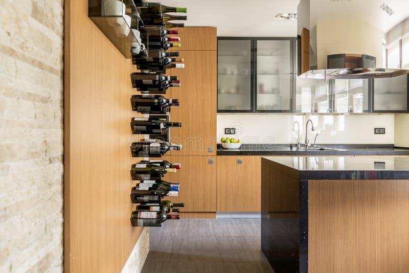 L'espace pour le vin photographie stock