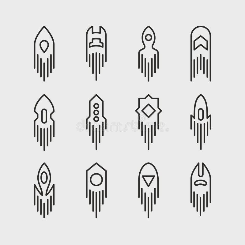 L'espace Rocket Icon Set illustration de vecteur