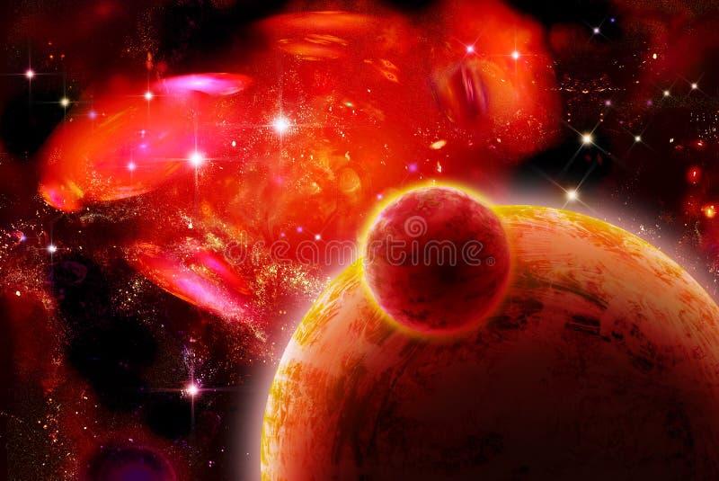 l'espace rouge impressionnant illustration libre de droits