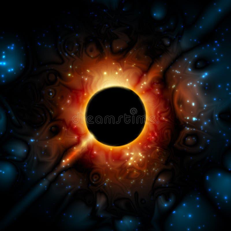 L'espace Supermassive d'univers de gravité de trou noir illustration libre de droits