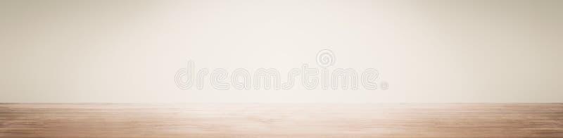 L'espace vide avec le mur et l'étage en bois image libre de droits