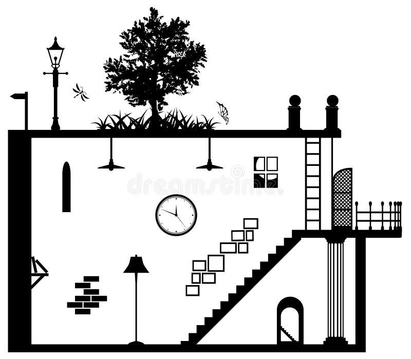 L'espace vivant illustration libre de droits