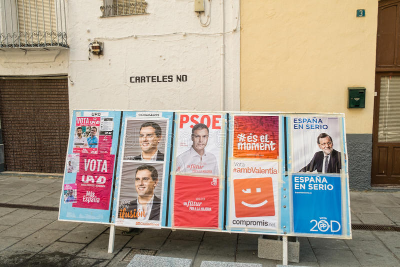 L'Espagne 2015 élections images libres de droits