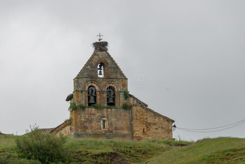 l'espagne Arène de l'église de San Felices de Castilleria Palencia photos libres de droits