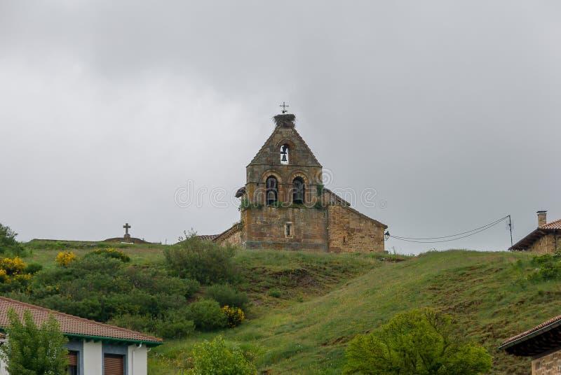 l'espagne Ar?ne de l'?glise de San Felices de Castilleria Palencia photos libres de droits