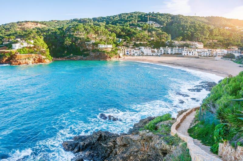 l'espagne Costa Brava Begur, SA Riera catalonia vue gentille de images stock