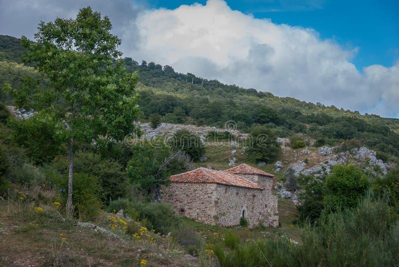 l'espagne Ermita De Herreruela de Castilleria Palencia images stock