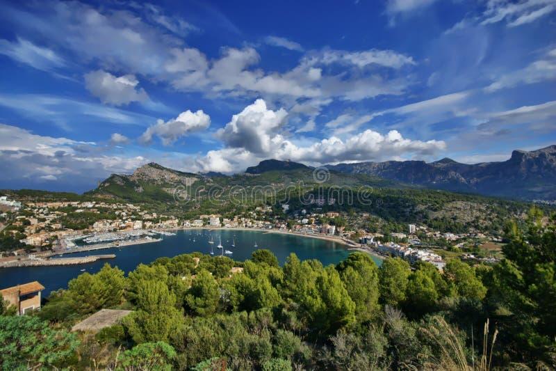 L'Espagne Majorca Port de Soller photo libre de droits