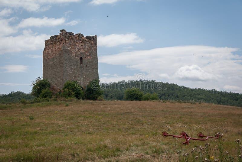 l'espagne Vieille tour du nord de Palencia images libres de droits