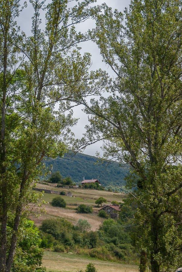 l'espagne Vues de Herreruela de Castilleria Palencia images stock