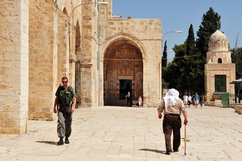 l'Esplanade des mosquées et mosquée d'Al-Aqsa à Jérusalem Israël image libre de droits