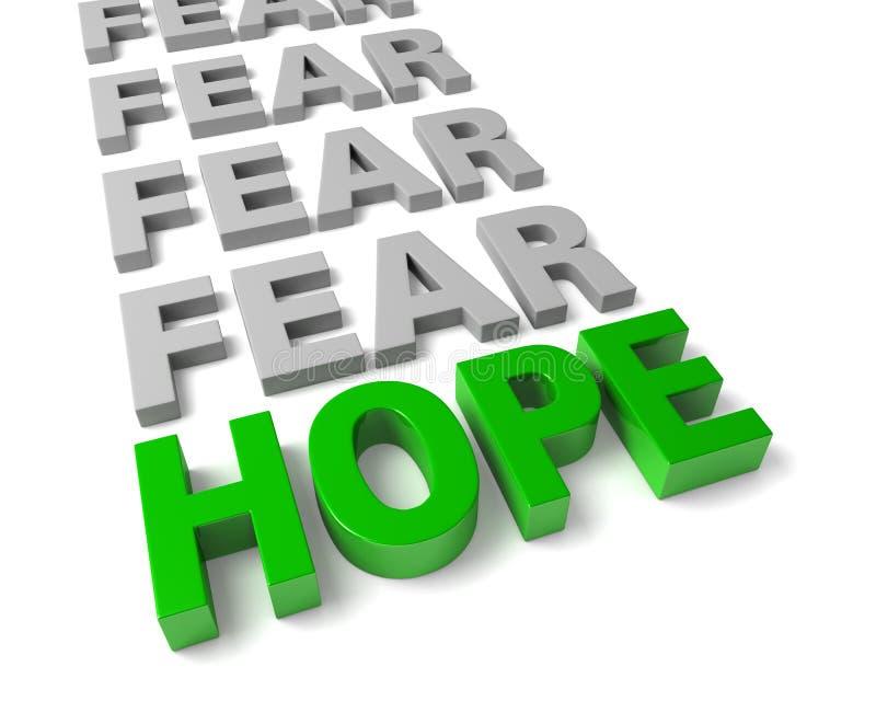 L'espoir surmonte la crainte illustration de vecteur