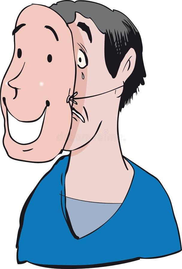 L'espressione facciale ha presentato al mondo royalty illustrazione gratis
