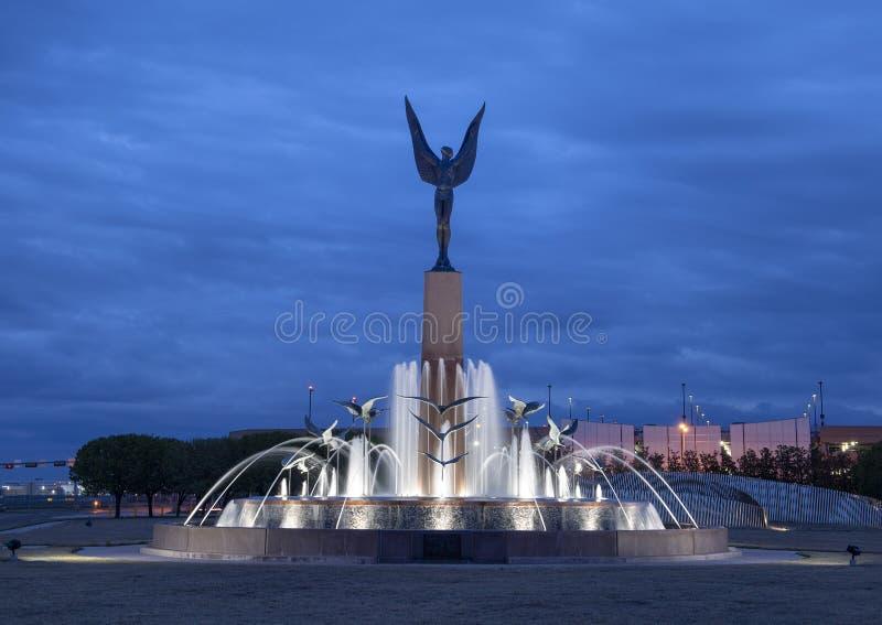 L'esprit du bronze de vol, champ d'amour, Dallas, le Texas image stock