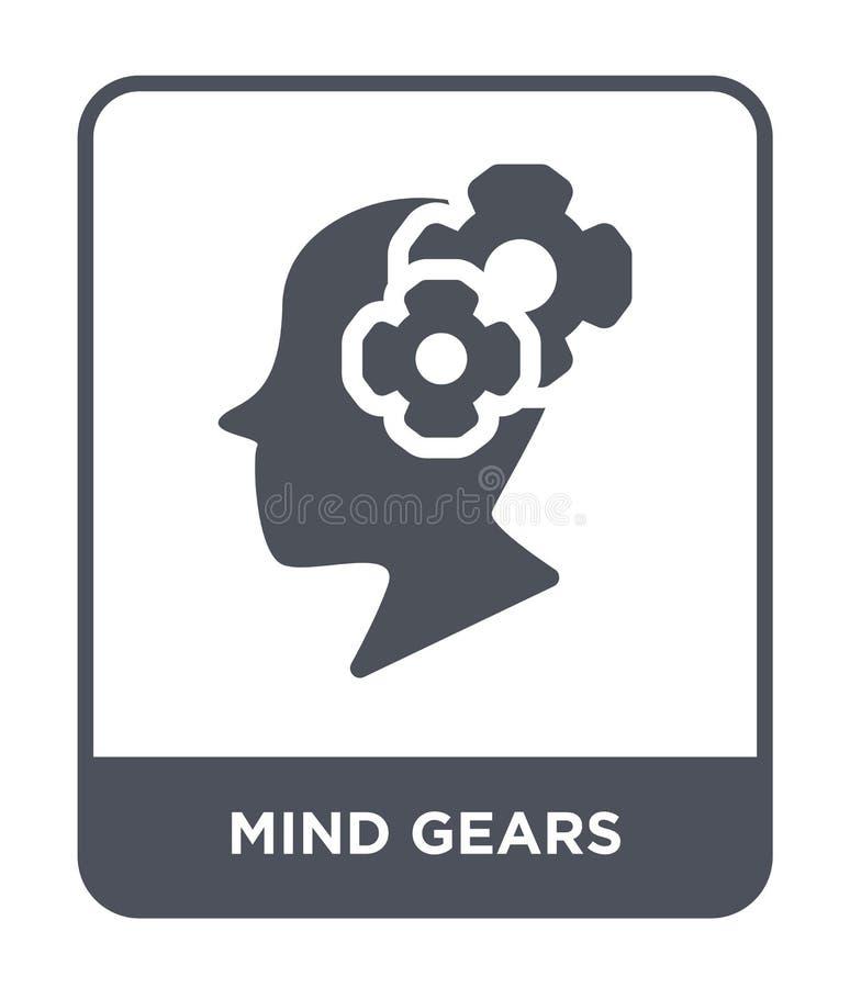 l'esprit embraye l'icône dans le style à la mode de conception icône de vitesses d'esprit d'isolement sur le fond blanc l'esprit  illustration libre de droits