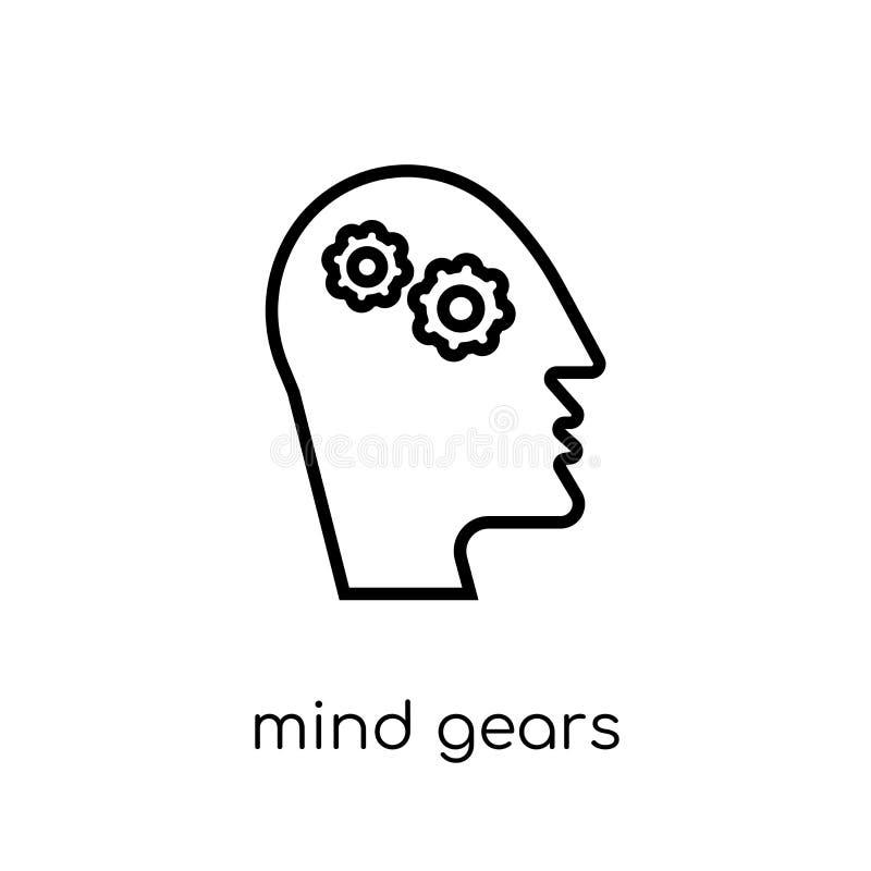 L'esprit embraye l'icône de la collection de productivité illustration libre de droits
