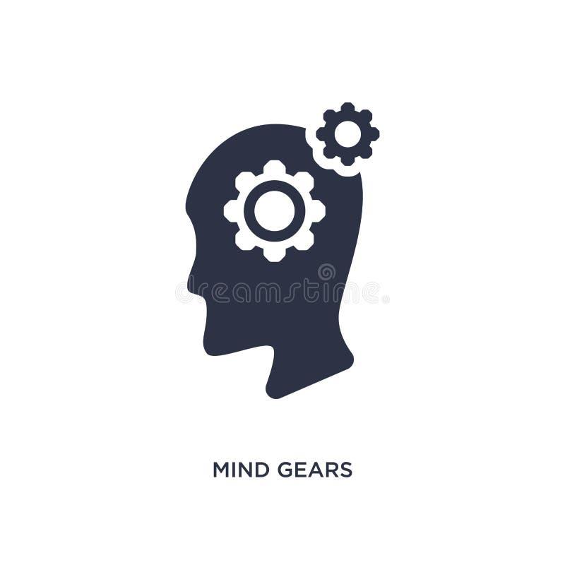 l'esprit embraye l'icône sur le fond blanc Illustration simple d'élément de concept de productivité illustration libre de droits