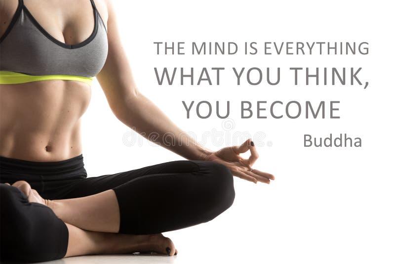 L'esprit est tout, ce que vous pensez, vous deviennent images stock