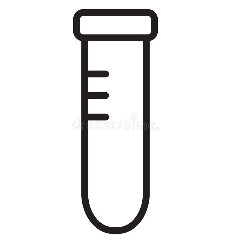 L'essai en laboratoire a isolé la ligne icône de vecteur qui peut être facilement modifiée ou éditée illustration stock