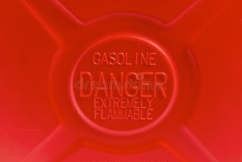 L'essence est dangereuse image stock