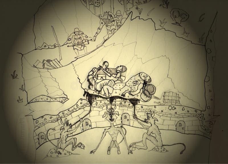 L'essenza della guerra royalty illustrazione gratis