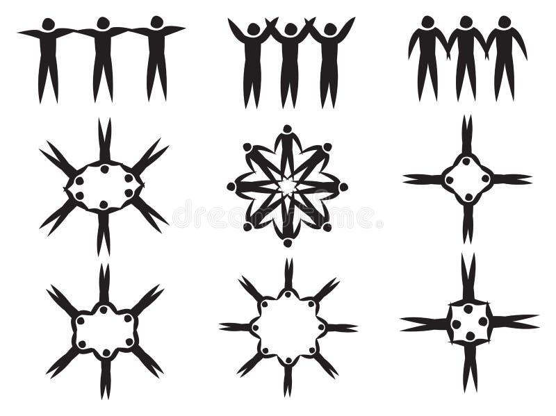 L'essere umano della mano della tenuta calcola l'illustrazione di vettore di simbolo royalty illustrazione gratis