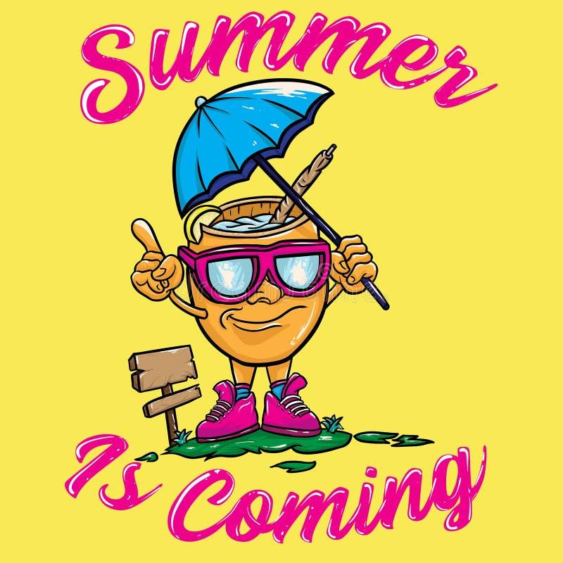 L'estate è progettazione venente di vettore royalty illustrazione gratis