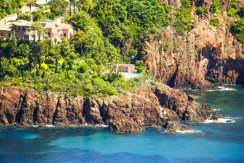 L'Esterel, ao sul de França imagens de stock royalty free