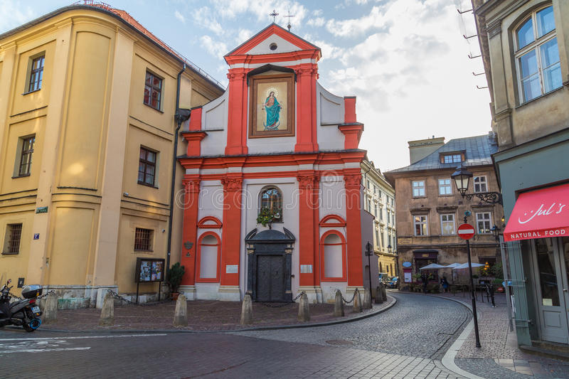 L'esterno della chiesa di St John The Baptist immagine stock
