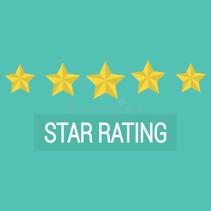 L'estimation d'examen, client passe en revue le taux d'étoiles illustration de vecteur