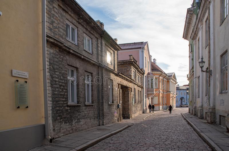 L'Estonie Tallinn Toompea, vieux bâtiment de ville photos libres de droits