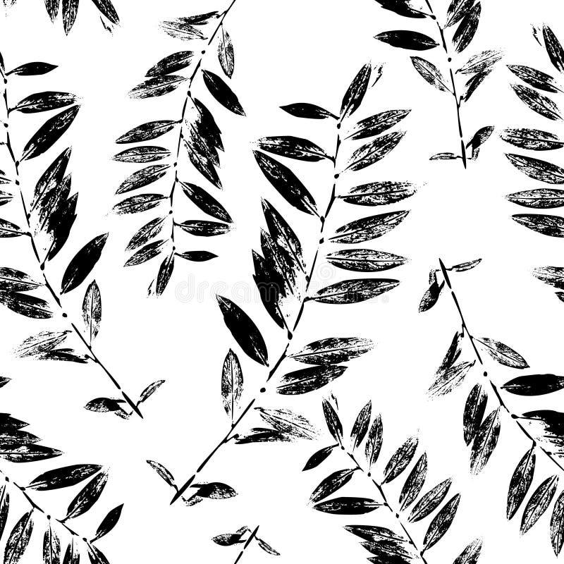 L'estratto in bianco e nero lascia a siluetta il modello senza cuciture royalty illustrazione gratis