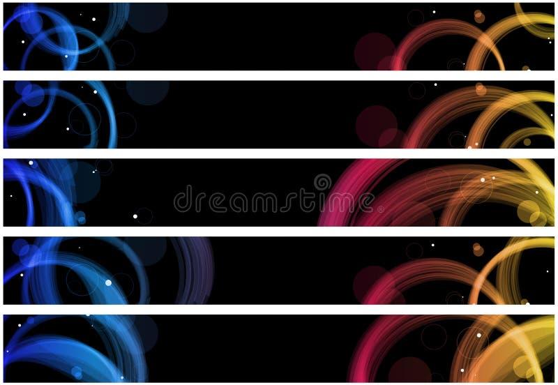 L'estratto circonda la bandiera di Web illustrazione vettoriale