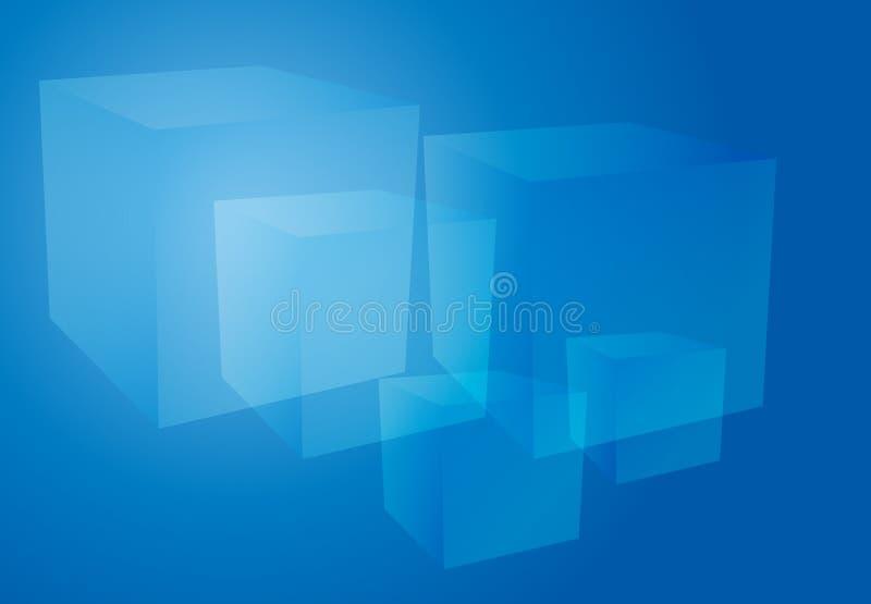 L'estratto cuba l'azzurro illustrazione vettoriale
