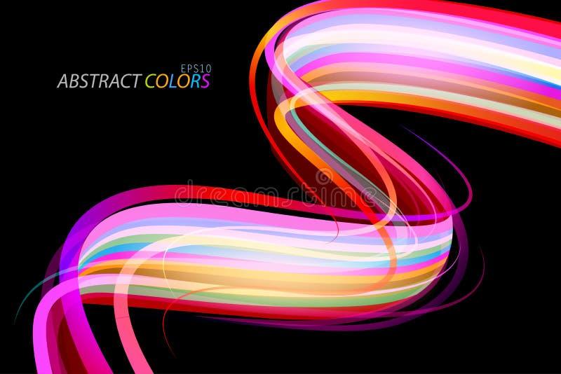 L'estratto curvo colora la scena di forma illustrazione di stock