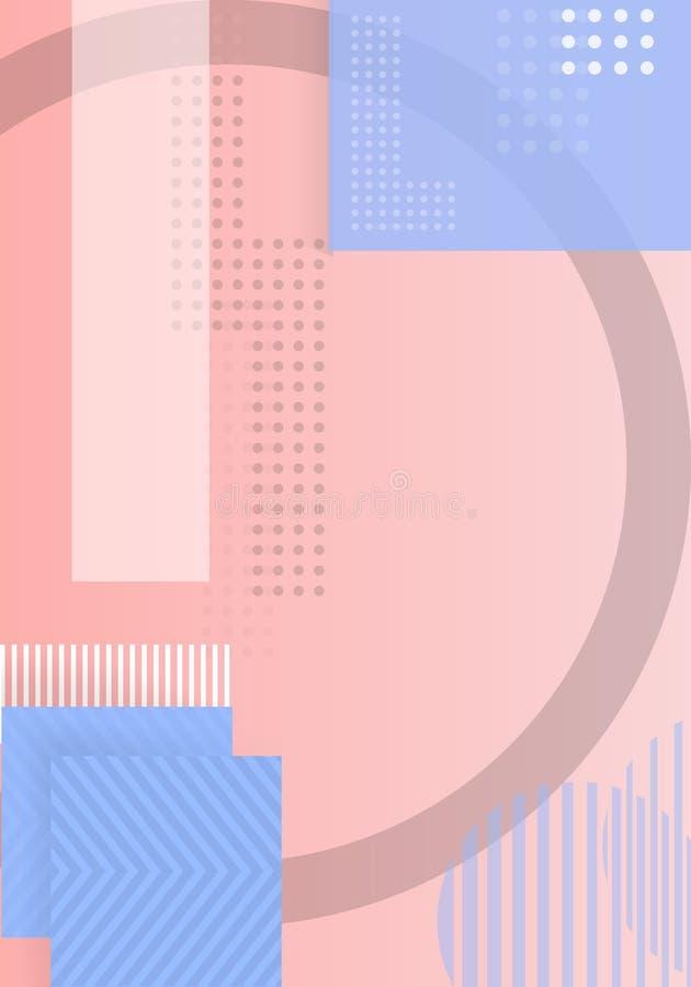 L'estratto d'avanguardia modella il fondo geometrico modello funky del manifesto di forme dei pantaloni a vita bassa di stile 90s illustrazione vettoriale