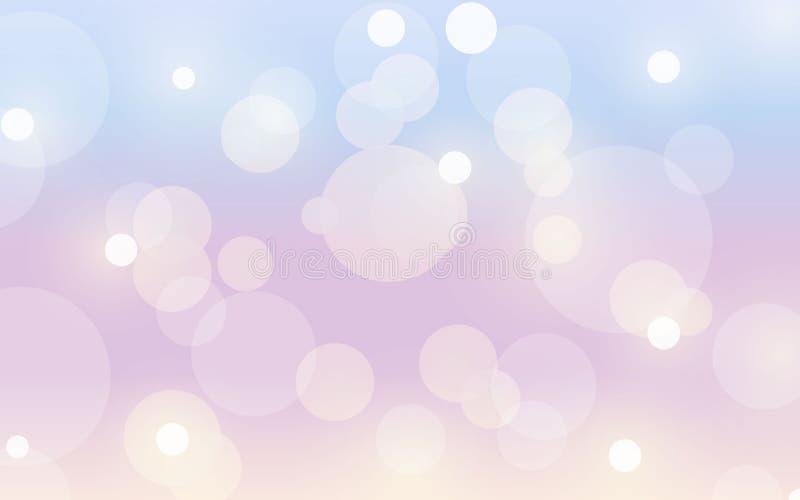 L'estratto dell'estate ha offuscato il fondo di sogno con effetto del bokeh Primavera, natura, illustrazione nuvolosa di vettore  royalty illustrazione gratis