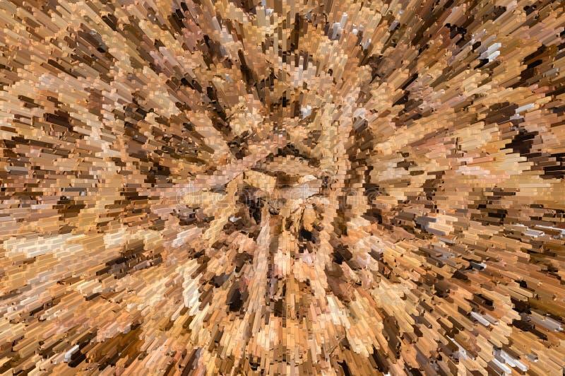 L'estratto espelle fondo di legno marrone fotografia stock libera da diritti