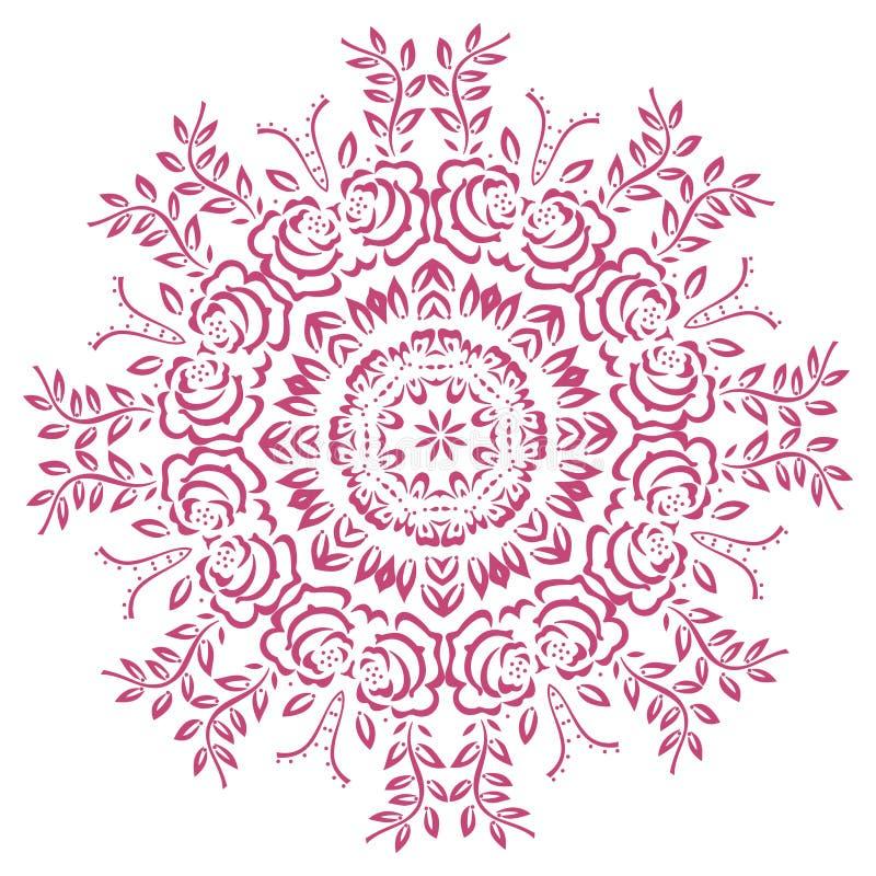 L'estratto fiorisce la mandala illustrazione di stock