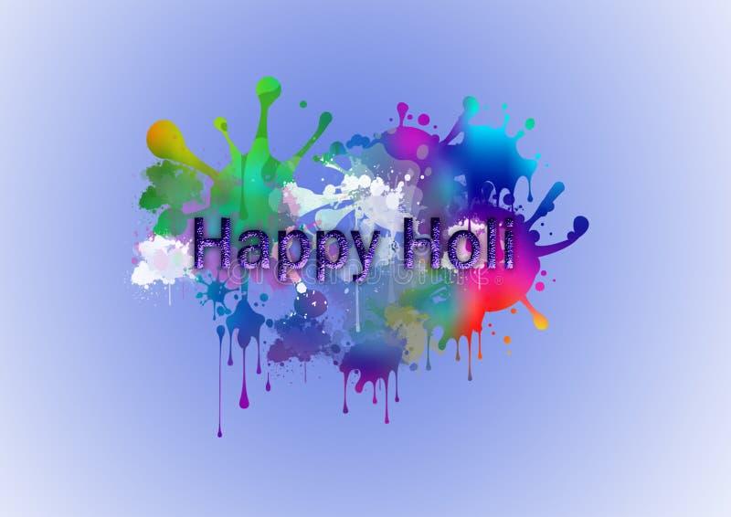 l'estratto o l'illustrazione di fondo blu promozionale variopinto per il festival della celebrazione di colori ha chiamato il hol illustrazione vettoriale