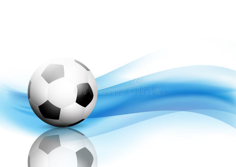 L'estratto ondeggia il fondo con calcio/pallone da calcio illustrazione di stock