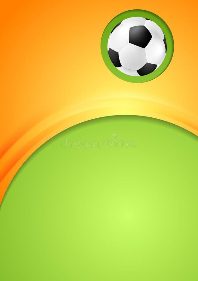 L'estratto ondeggia il fondo di sport di calcio illustrazione vettoriale