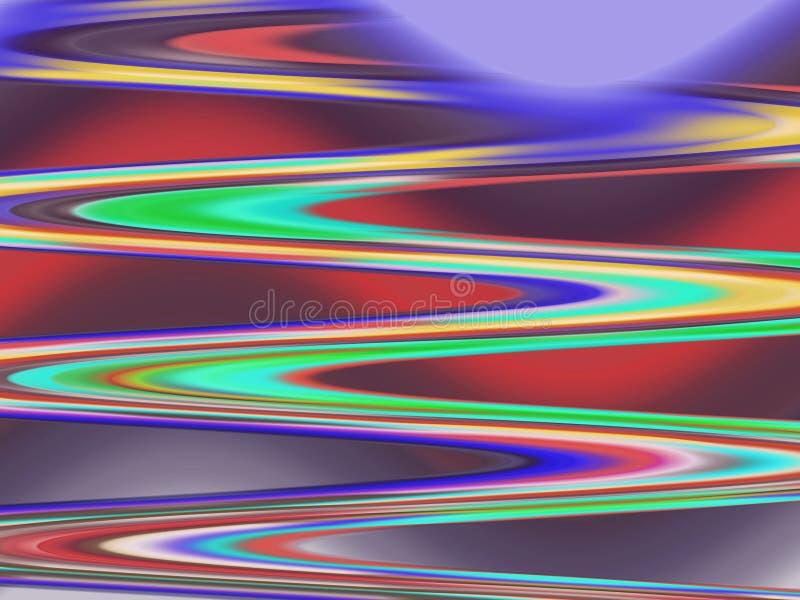 L'estratto ondeggia le linee, le geometrie variopinte, il fondo allegro delle geometrie, i grafici, il fondo astratto e la strutt illustrazione di stock
