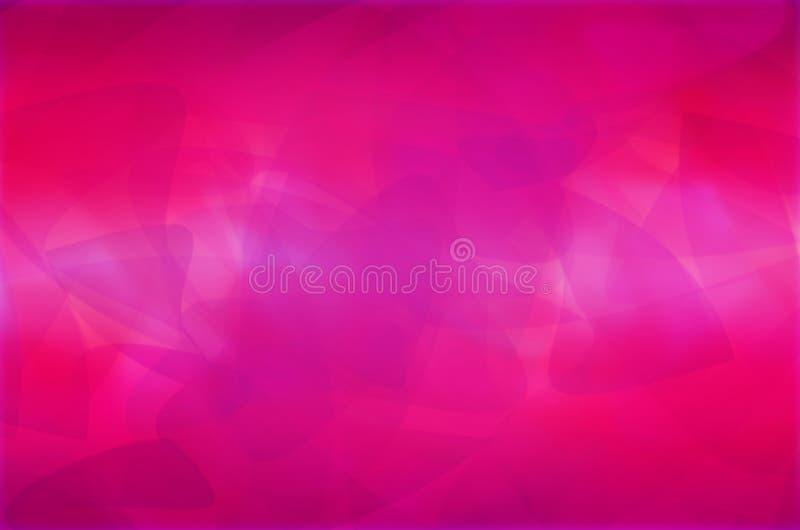 L'estratto rosa curva il fondo illustrazione di stock